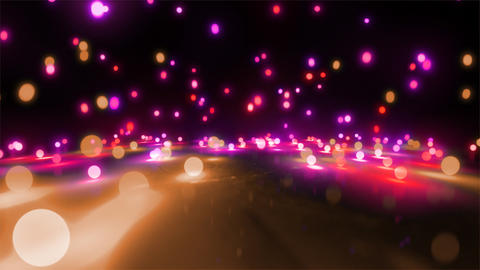 pink color tone light balls falling Stock Video Footage