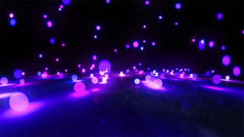 purple light balls falling Animation