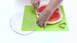 Fun Heart-shaped Watermelon Pieces stock footage