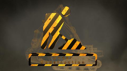 construction sign Animation
