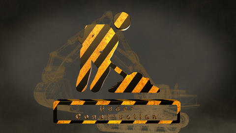 construction sign Stock Video Footage