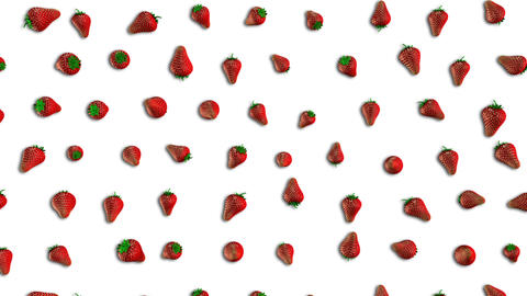 Fresh Strawberry Loop Stock Video Footage