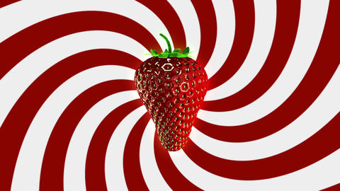 Spinning Strawberry Looping Background Stock Video Footage