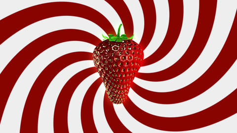 Spinning Strawberry Looping Background Animation