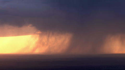 Heavy rain on the horizon HD Stock Video Footage