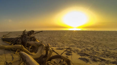 Timelapse Sunset on the beach Stock Video Footage