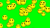 Emoticons Green Screen stock footage