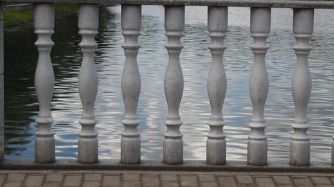 Water through a series of columns Stock Video Footage