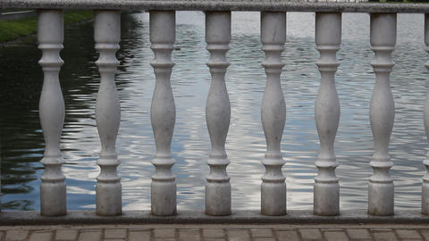 Water Through A Series Of Columns stock footage