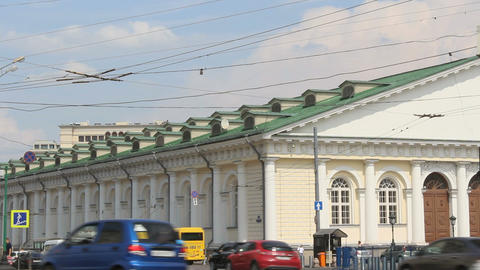 Moscow Manege View from Mokhovaya Street Footage