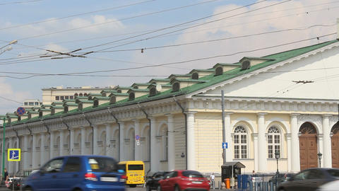 Moscow Manege View from Mokhovaya Street Stock Video Footage