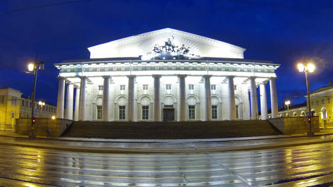 The building of the stock Exchange in St. Petersbu Footage