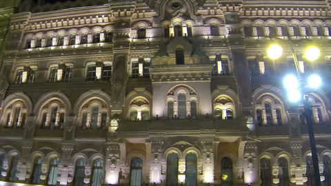The facade of an old building in St. Petersburg Ni Stock Video Footage
