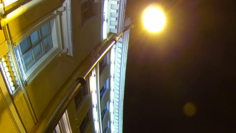 Old house on the Italian street in St. Petersburg Stock Video Footage