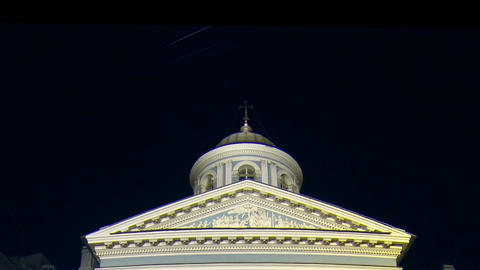 Armenian Church in St. Petersburg Night Stock Video Footage