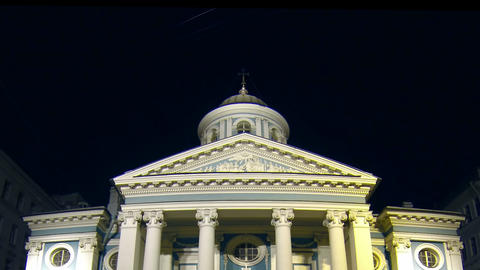 Armenian Church in St. Petersburg Night Footage