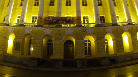 The building of Lenenergo Petersburg Night Stock Video Footage