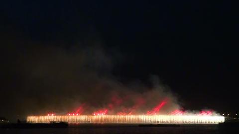 Trinity bridge in St. Petersburg Night Stock Video Footage