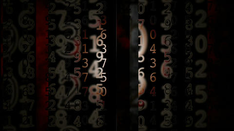 slide grunge numbers Stock Video Footage