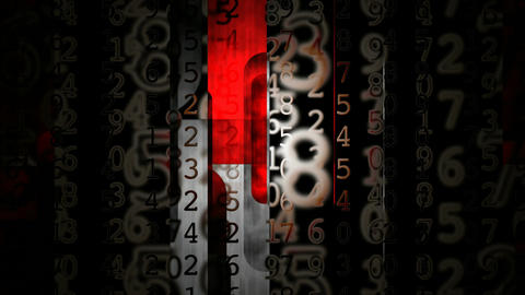 slide grunge numbers Animation