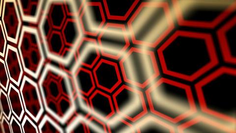 hexa flying rotation Stock Video Footage