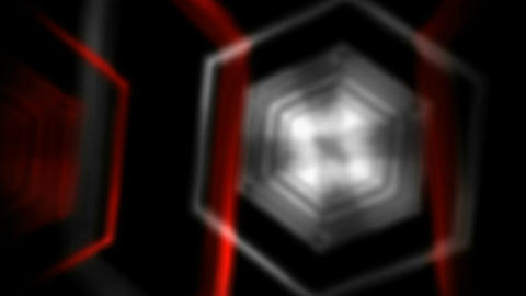 hexagonal space offset Stock Video Footage