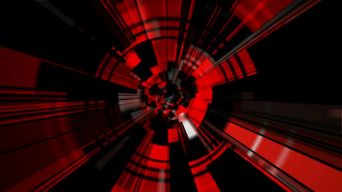 red tunnel rays Stock Video Footage