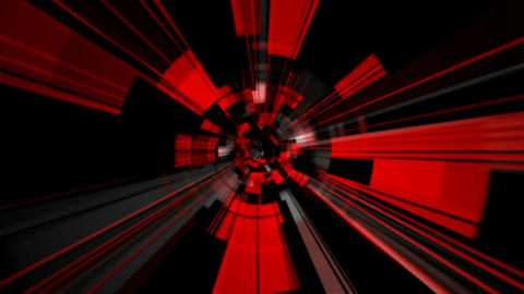 red tunnel rays Animation