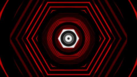 hexagon tunnel overlay Stock Video Footage