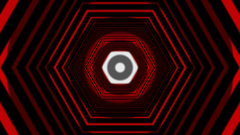 hexagon tunnel overlay Animation