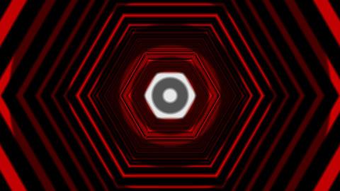 hexagon tunnel overlay Animation