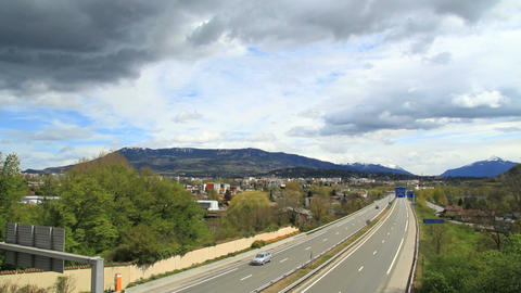 Highway to the alps Stock Video Footage