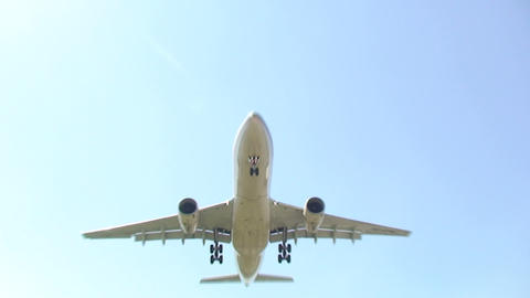 Airplane Overhead stock footage