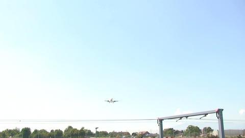 Airplane overhead Stock Video Footage
