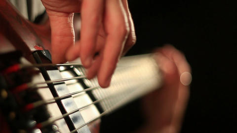 Bass playing Stock Video Footage