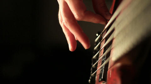 Bass playing Footage