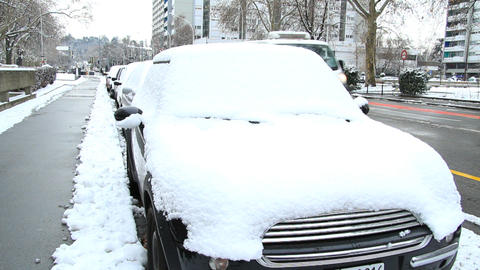 Car in snow Stock Video Footage