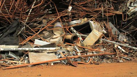 Scrap yard Stock Video Footage