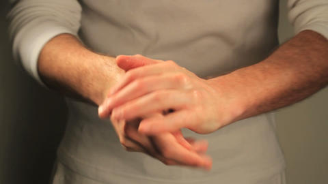 Hands sanitizing Stock Video Footage