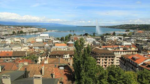 Geneva panorama Stock Video Footage