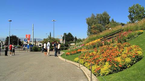 Horloge Fleurie in Geneva Footage