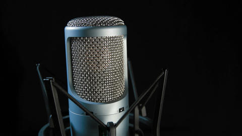 Studio Microphone – 3 SHOTS Stock Video Footage