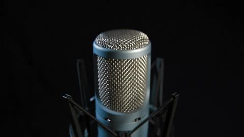Studio Microphone Stock Video Footage