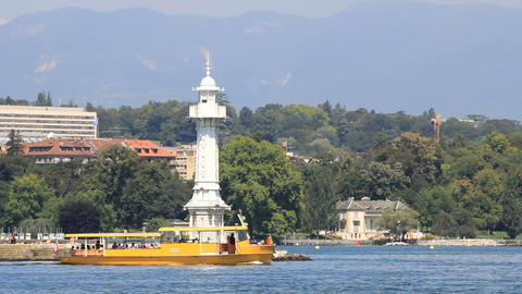 Boats & lighthouse Stock Video Footage