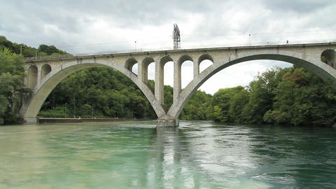 Bridge and river Stock Video Footage