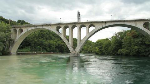 Bridge and river Footage