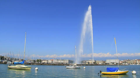 Jet d'eau in Geneva Footage