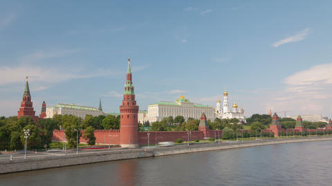 Walk along Kremlin wall hyperlapse Stock Video Footage