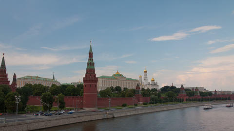 Walk along Kremlin wall hyperlapse Footage