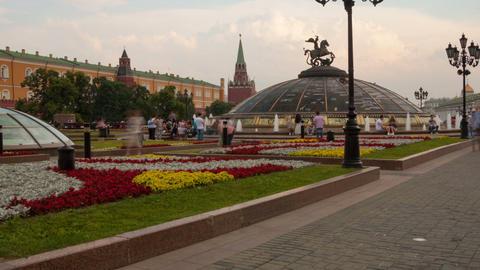 Walk on Manezhnaya Square in Mosocw hyperlapse Stock Video Footage